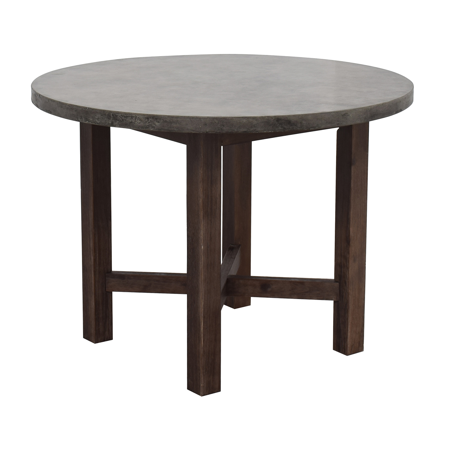 Granite Round Dining Table: Round Grey Stone Dining Table / Tables