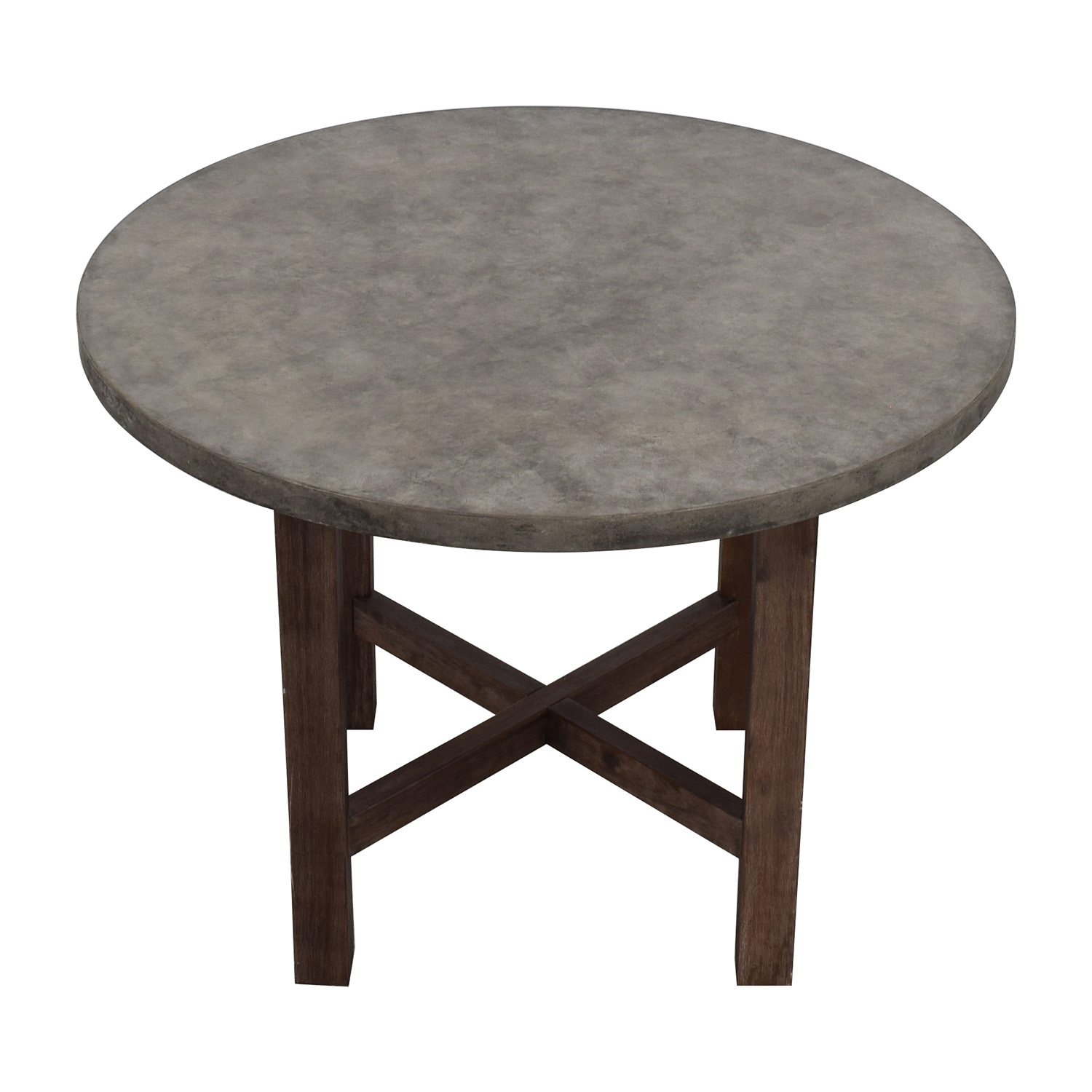 Round Grey Stone Dining Table