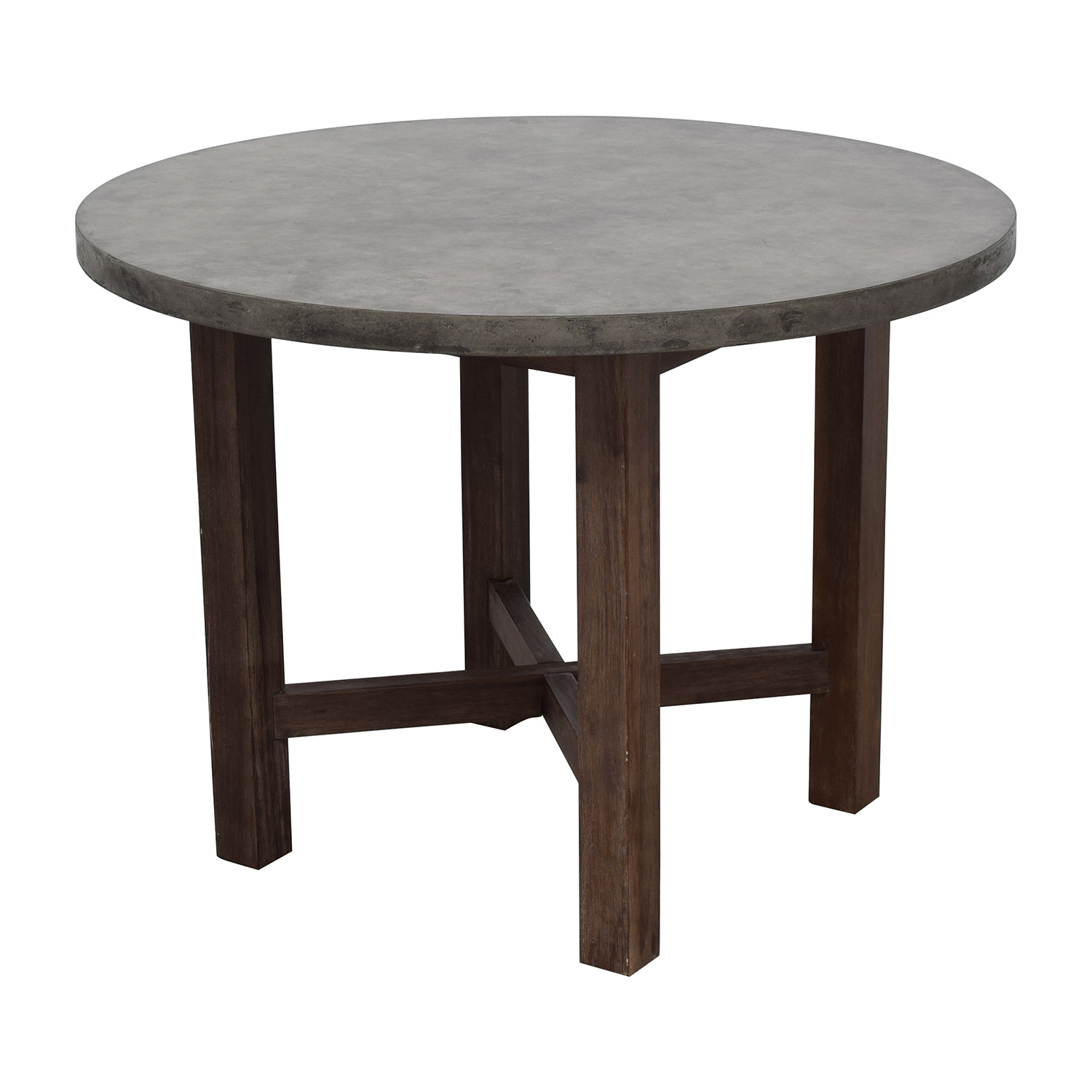 50 off round grey stone dining table tables for Round stone top dining table