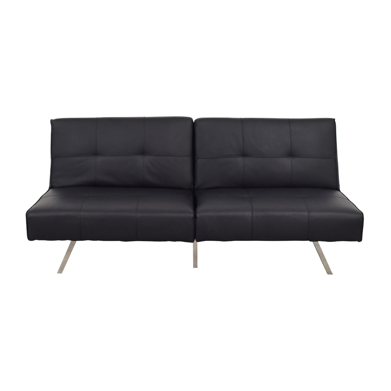 Jacksonville Jacksonville Black Futon Sleeper Sofa Bed coupon