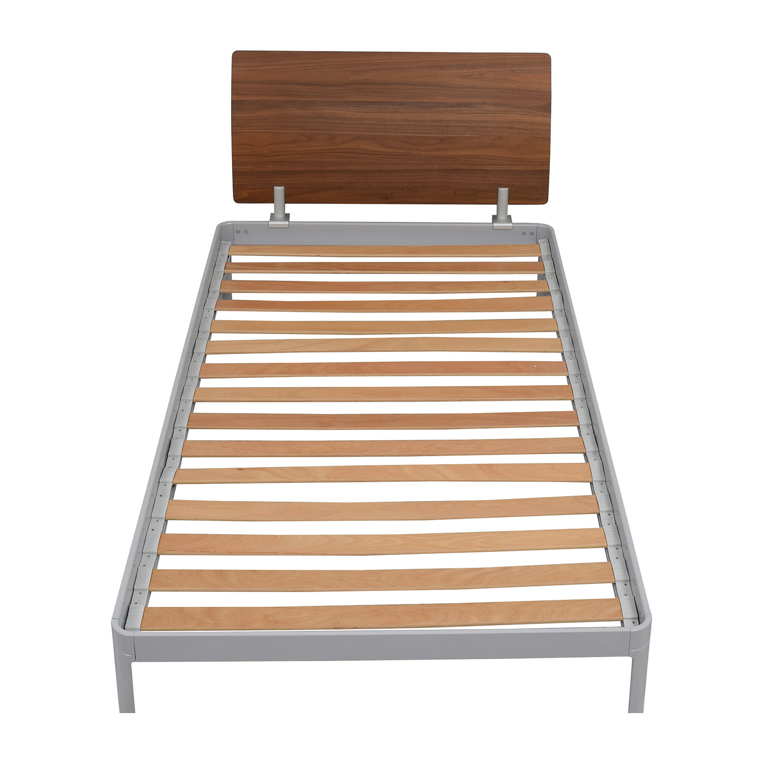 ... Design Within Reach Twin Platform Bed Frame With Walnut Headboard  Design Within Reach ...