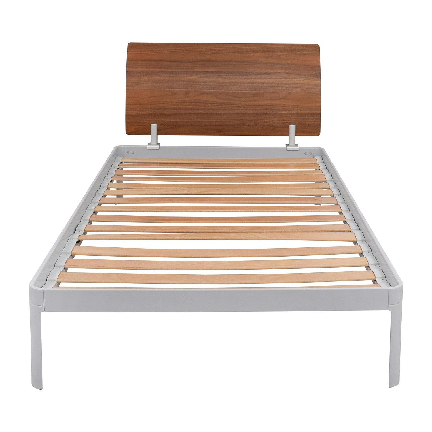 buy Design Within Reach Twin Platform Bed Frame with Walnut Headboard Design Within Reach Bed Frames