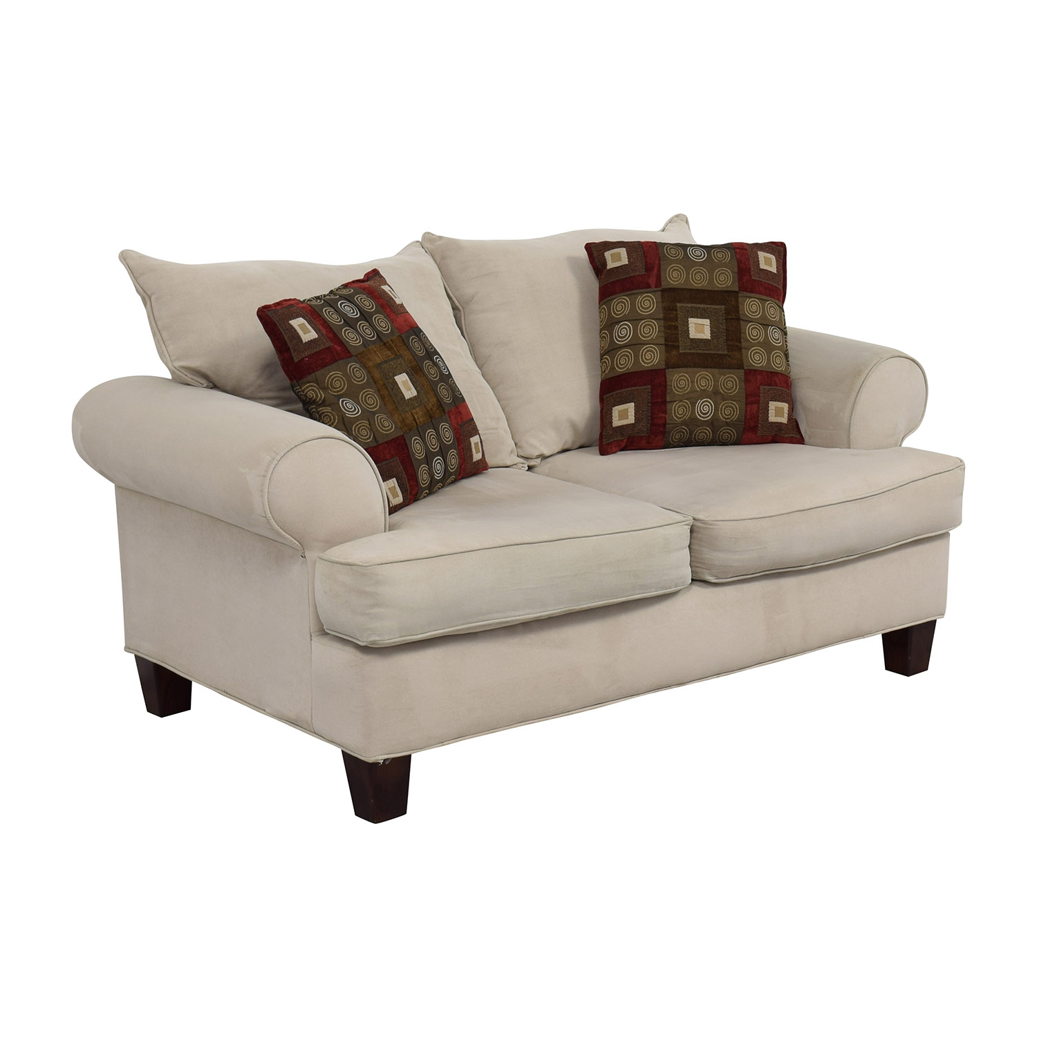 Bobs Discount Furniture Cream Love Seat / Loveseats