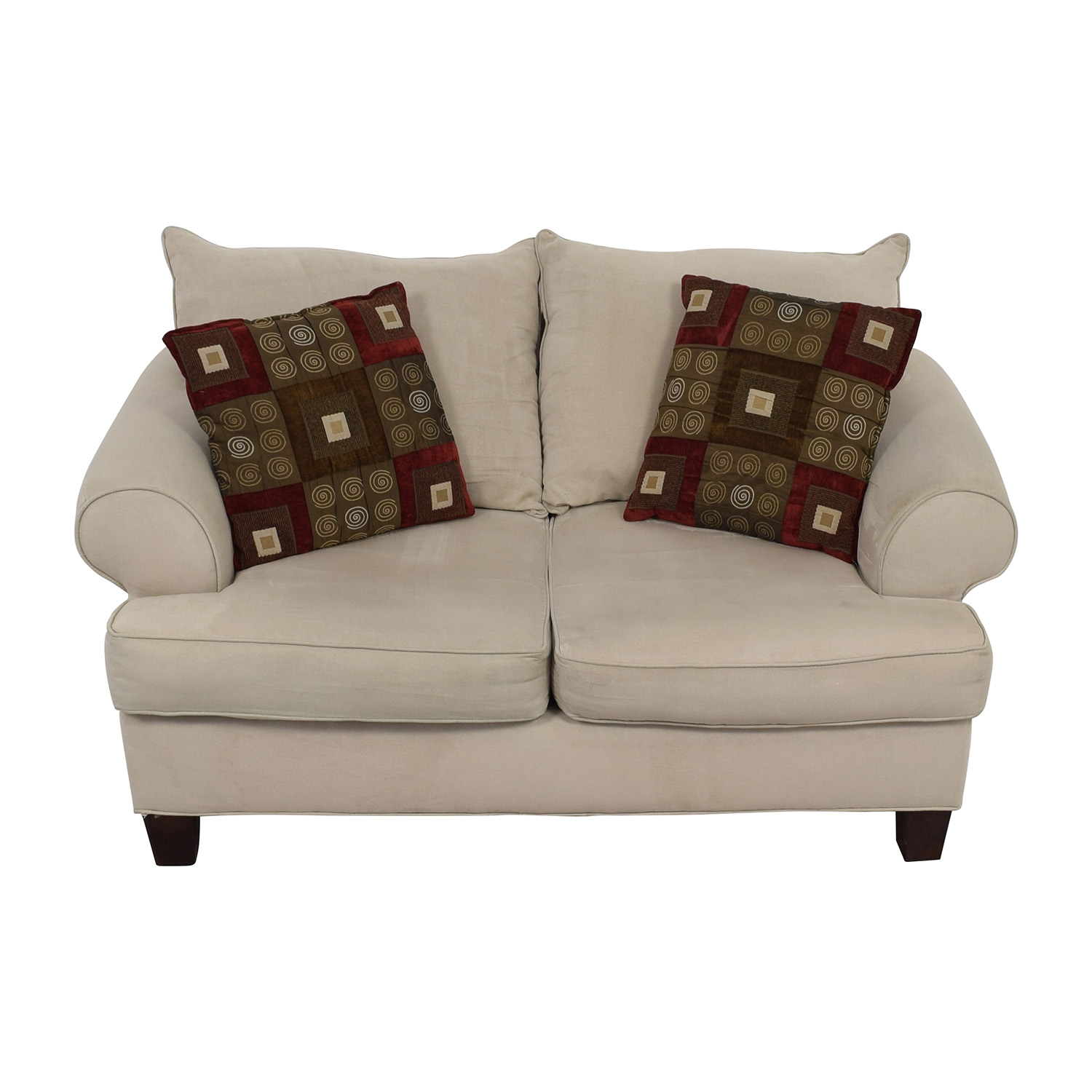 shop Bobs Discount Furniture Cream Love Seat Bobs Discount Furniture Loveseats