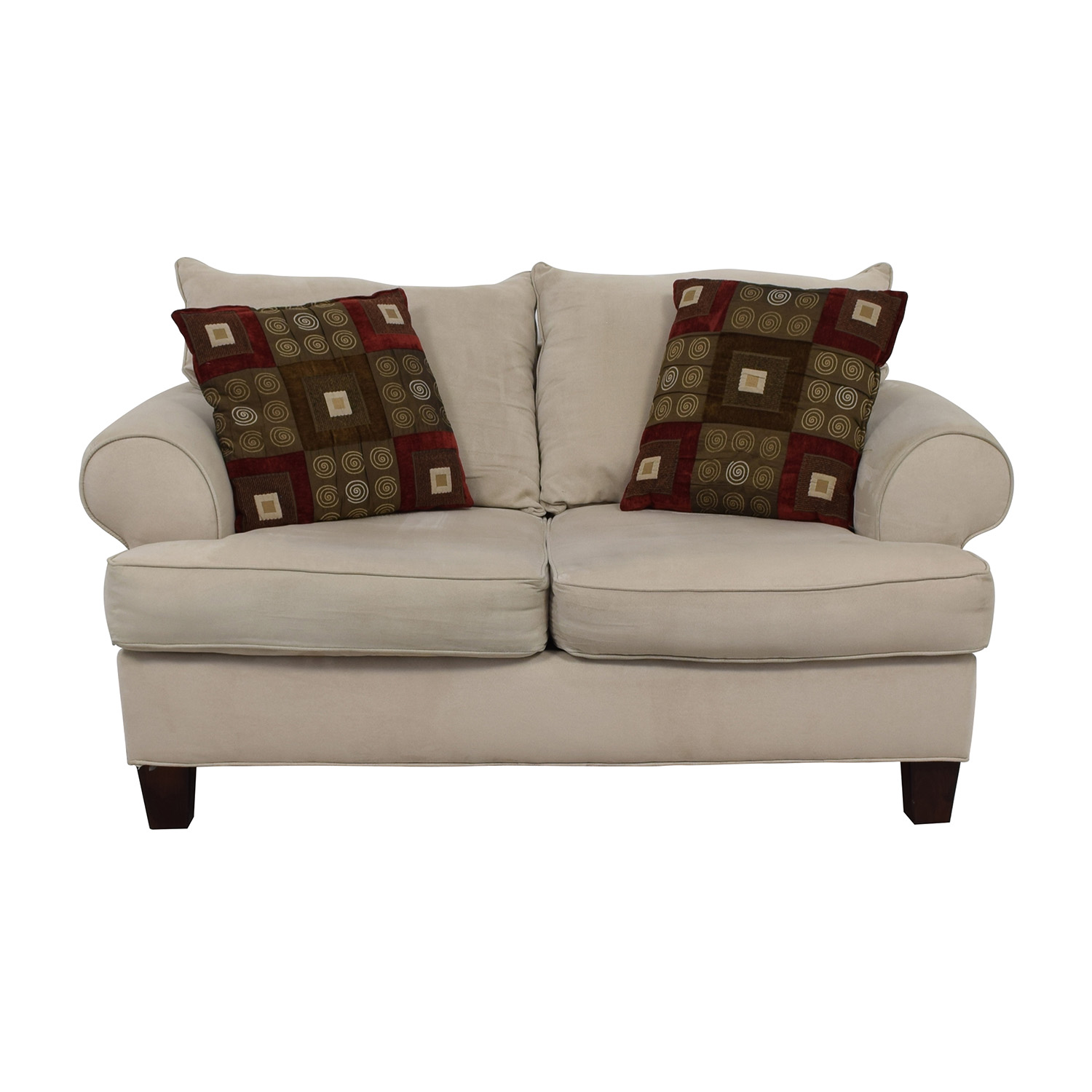 Bobs Discount Furniture Bobs Discount Furniture Cream Love Seat nyc