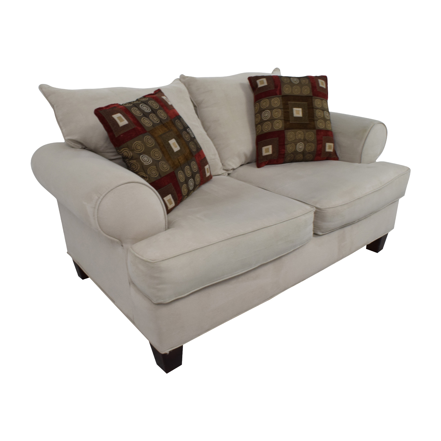 Bobs Discount Furniture Cream Love Seat / Sofas