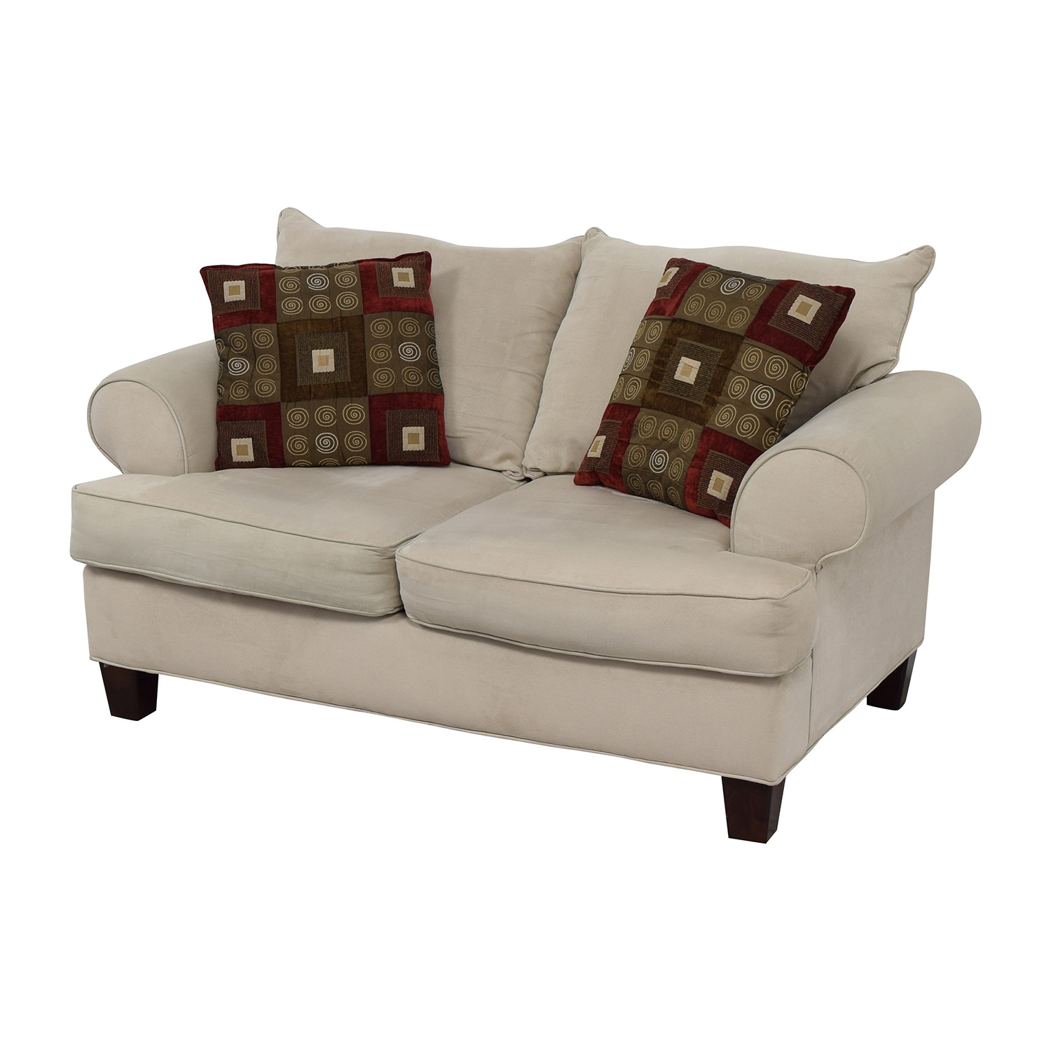 shop Bobs Discount Furniture Cream Love Seat Bobs Discount Furniture Sofas