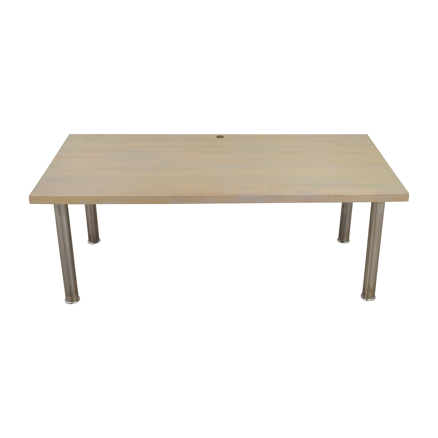 Custom Made Solid Wood Worktable nyc