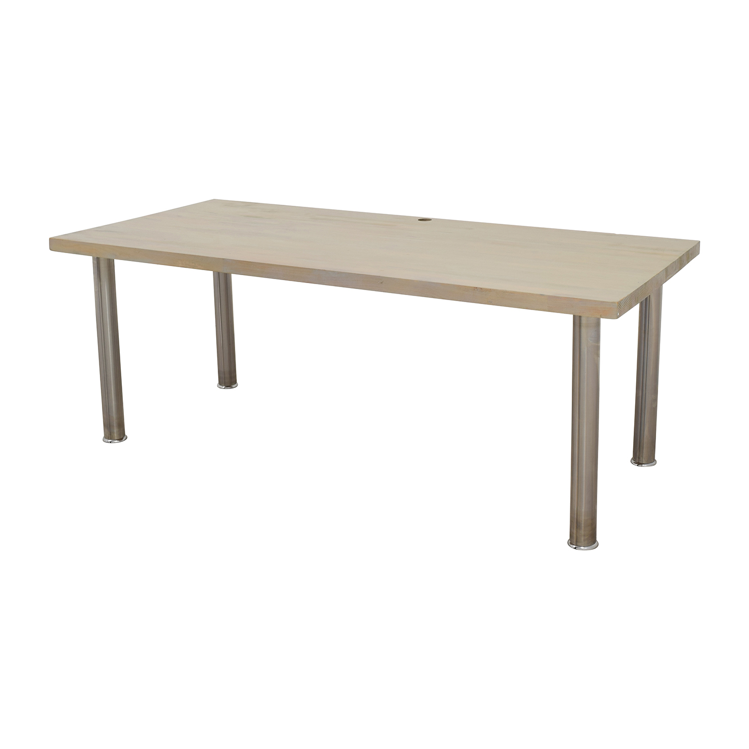 Custom Made Solid Wood Worktable Natural distress