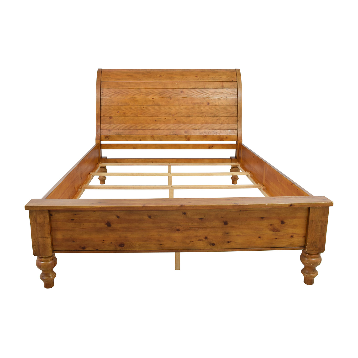 shop Pottery Barn Ashby Queen Sleigh Bed Frame Pottery Barn Bed Frames