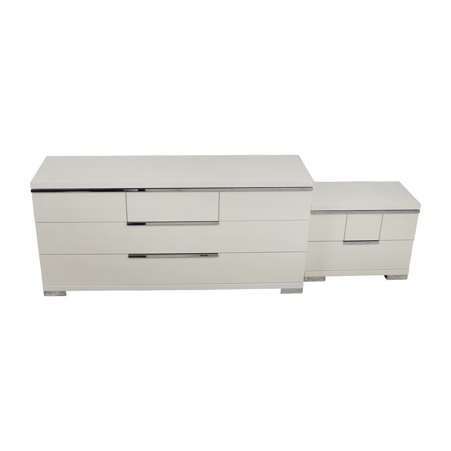 ALF Uno S.P.A ALF Uno SPA Three-Piece Modern Italian White Dresser Set nyc