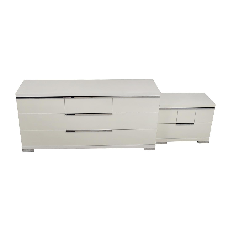 81% OFF - Alf Italia ALF Uno SPA Three-Piece Modern Italian White Dresser  Set / Storage