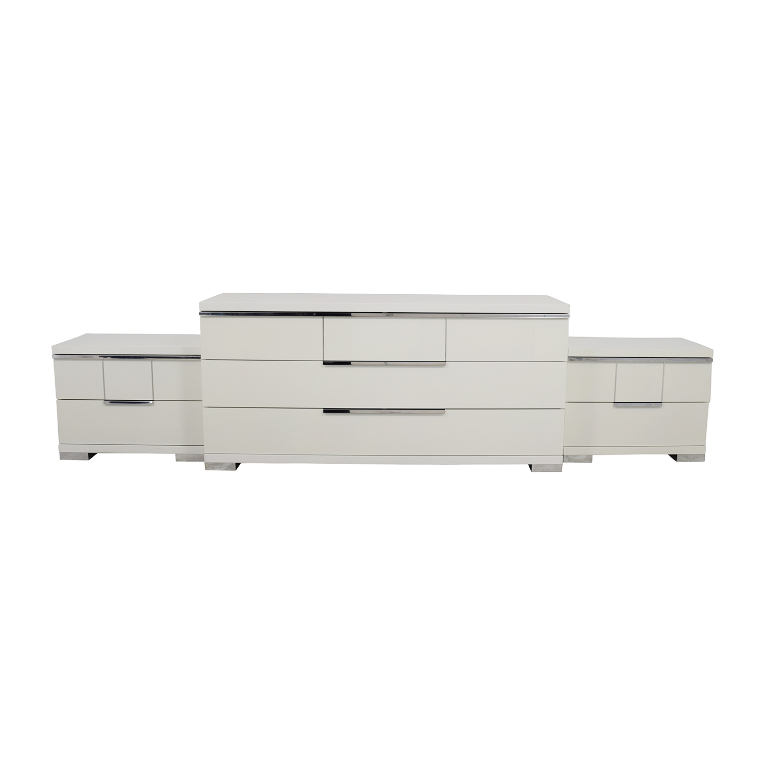 ALF Uno S.P.A ALF Uno SPA Three-Piece Modern Italian White Dresser Set for sale