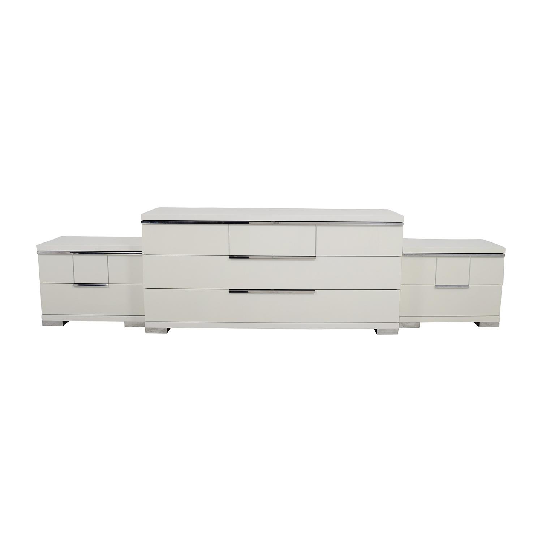 buy ALF Uno SPA Three-Piece Modern Italian White Dresser Set ALF Uno S.P.A Dressers