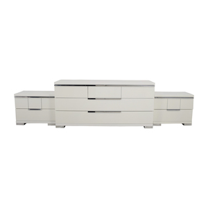 ALF Uno S.P.A ALF Uno SPA Three-Piece Modern Italian White Dresser Set nj