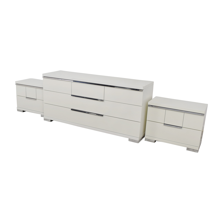ALF Uno S.P.A ALF Uno SPA Three-Piece Modern Italian White Dresser Set for sale
