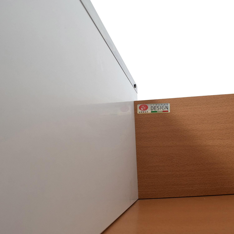 ALF Uno SPA Three-Piece Modern Italian White Dresser Set sale