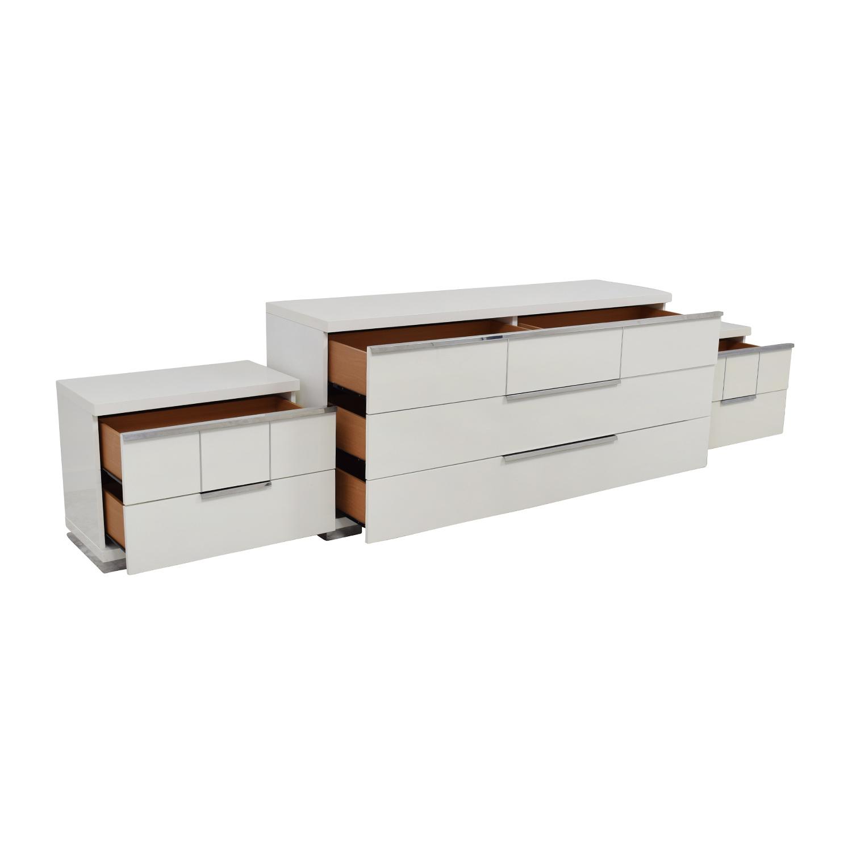 ALF Uno S.P.A ALF Uno SPA Three-Piece Modern Italian White Dresser Set discount