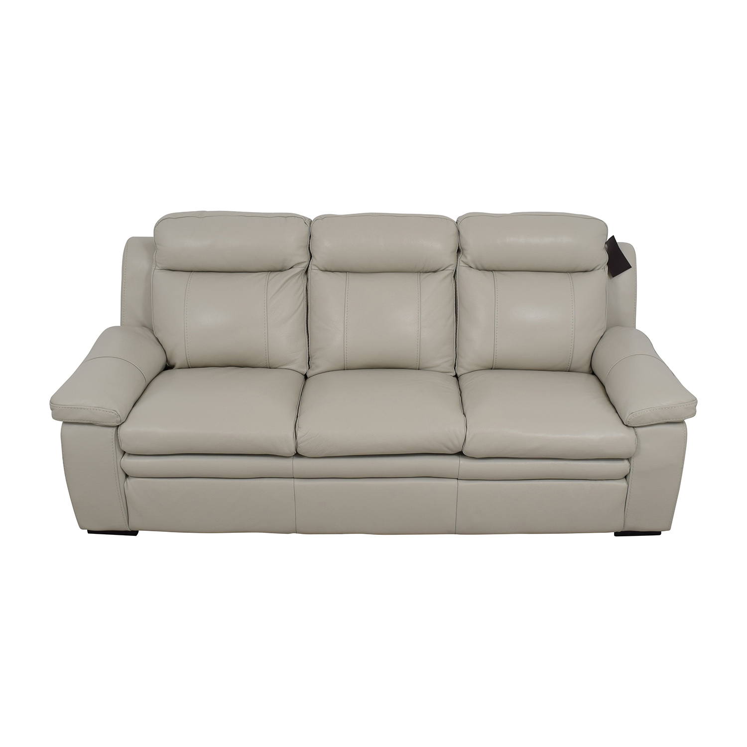 Macys Macys Zane White Leather Sofa for sale