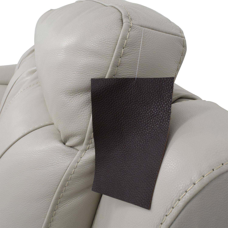 67 Off Macy S Macy S Zane White Leather Sofa Sofas