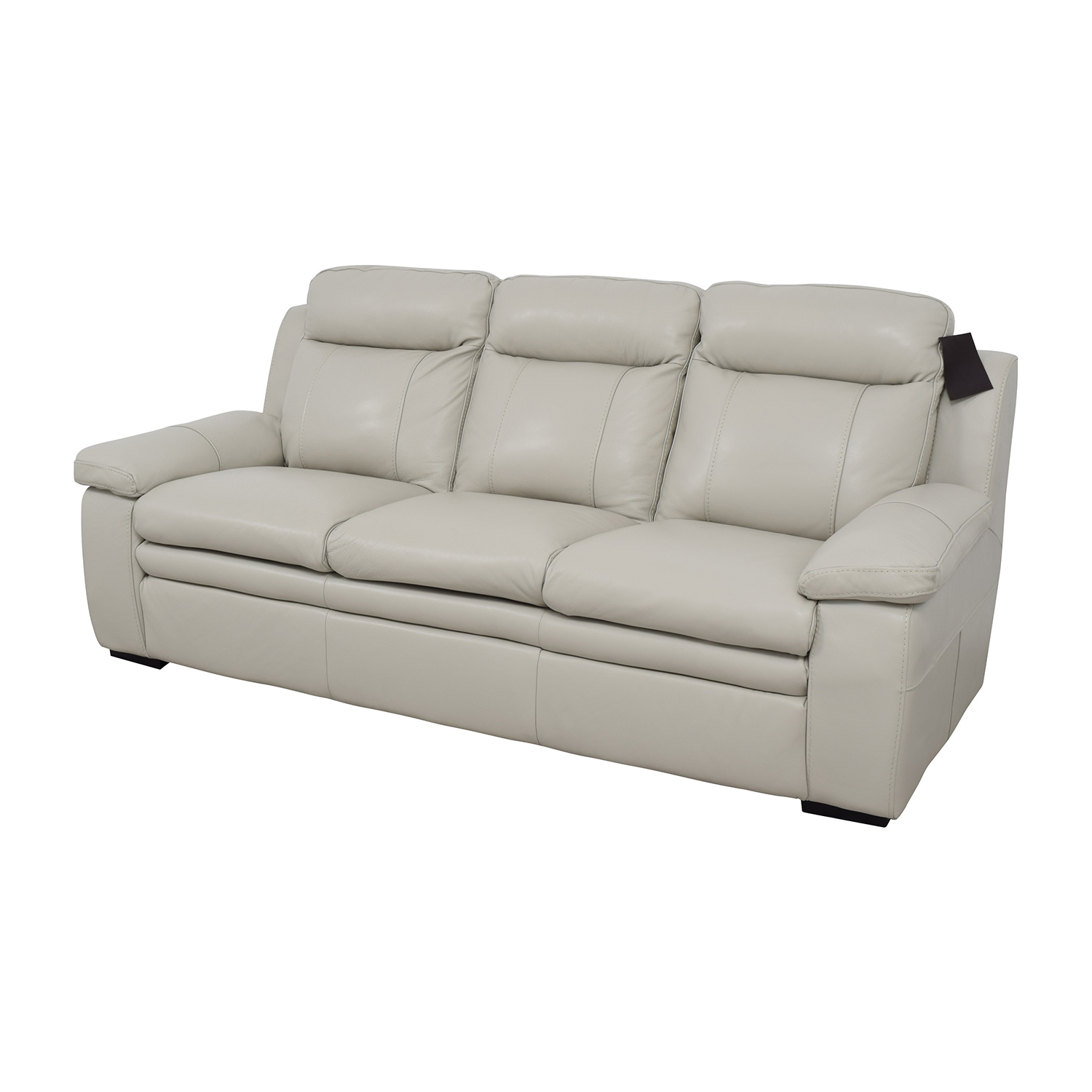 Macy's Macy's Zane White Leather Sofa / Sofas