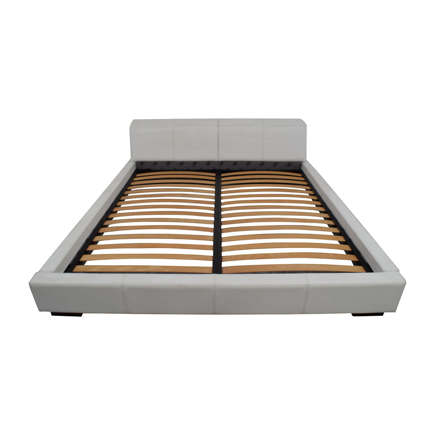 Paramount Paramount Gamma Arredamenti Leather Platform King Bed Beds