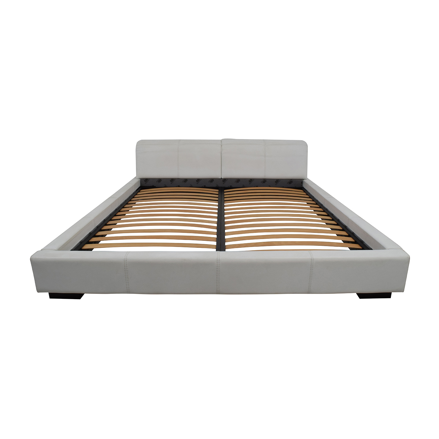Paramount Paramount Gamma Arredamenti Leather Platform King Bed for sale