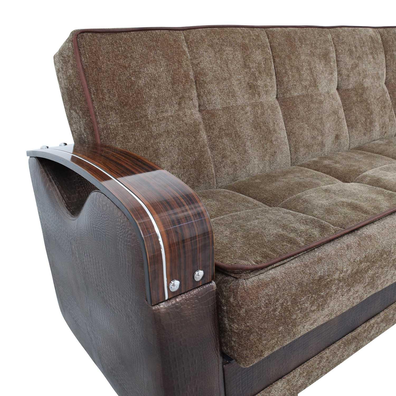 Sleep Mart Sleep Mart Natural Collection Prestige Brown Futon Sofa discount