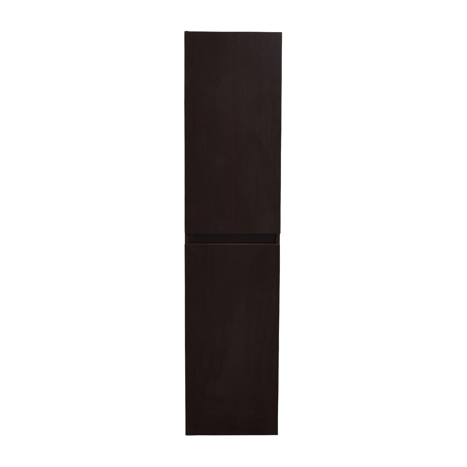 Wendge Tall Brown Storage Bathroom Cabinet dark brown