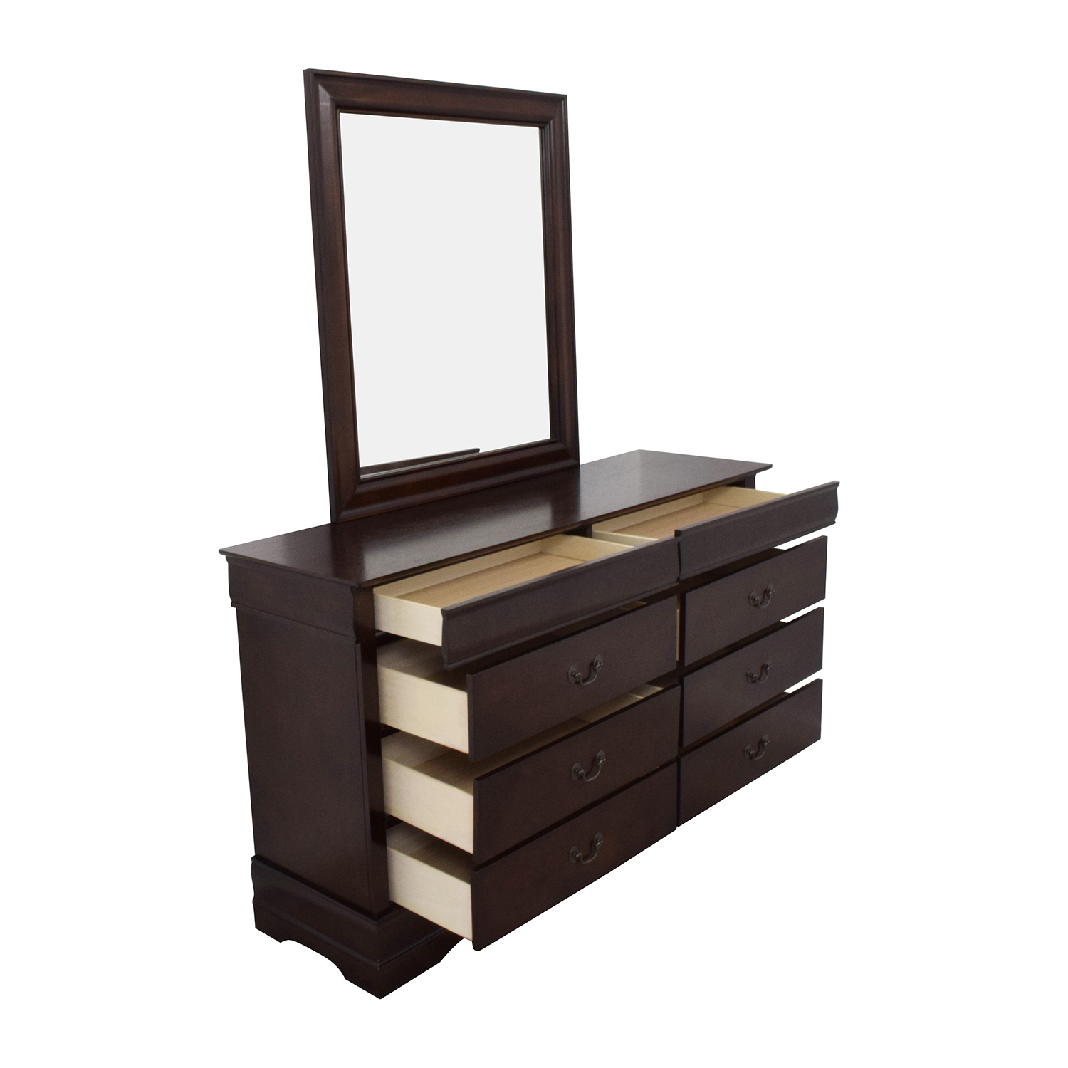 Home Meridian International Home Meridian International Eight-Drawer Dresser with Mirror brown