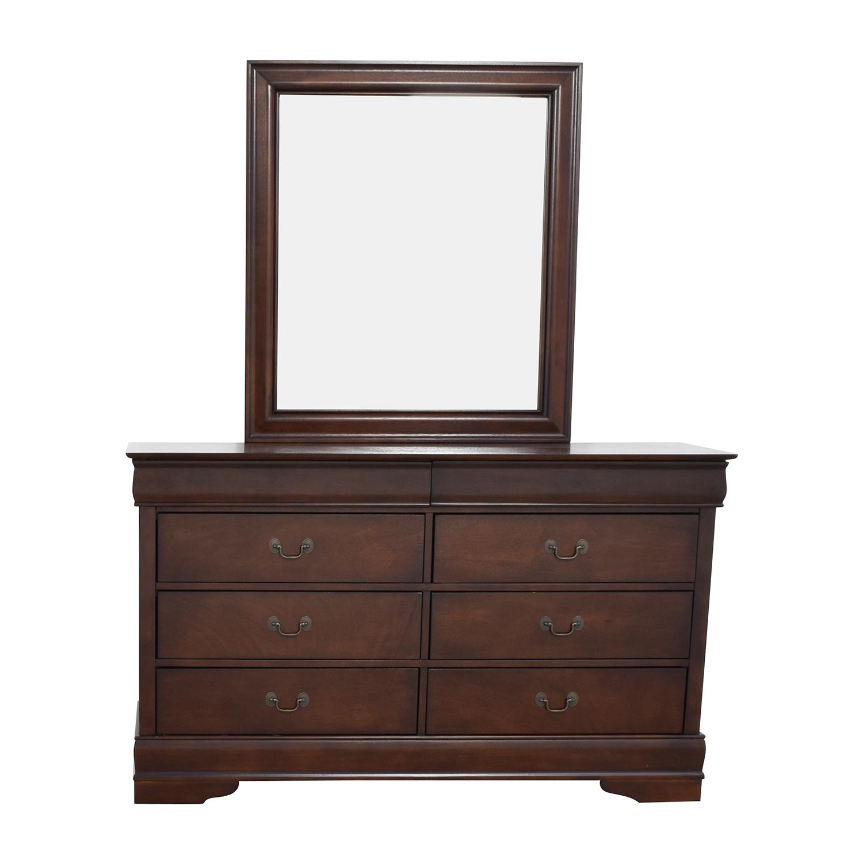 Home Meridian International Home Meridian International Eight-Drawer Dresser with Mirror second hand