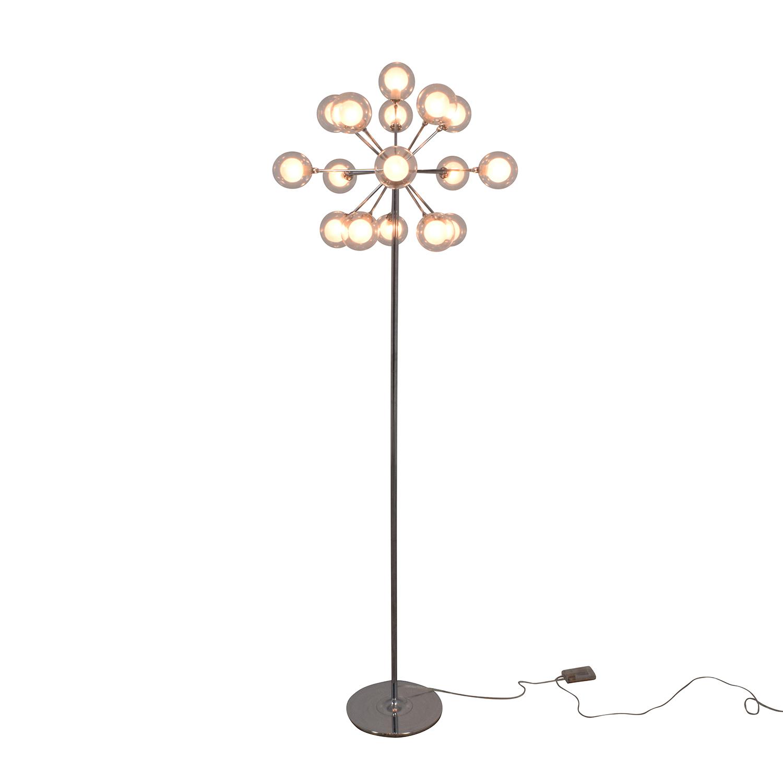 shop Possini Euro Chrome and Glass Floor Lamp Possini Decor