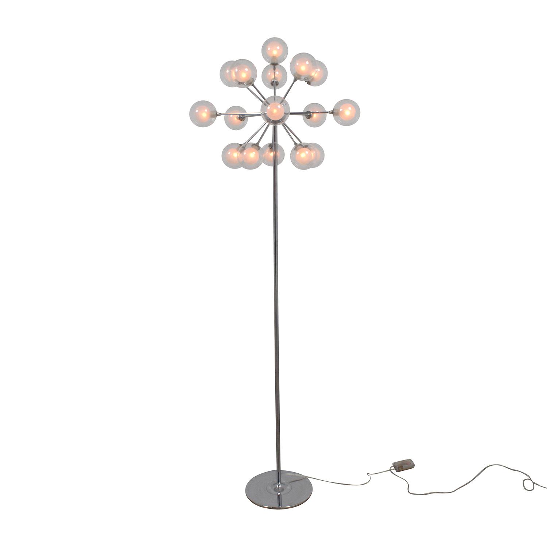 Possini Possini Euro Chrome and Glass Floor Lamp Lamps