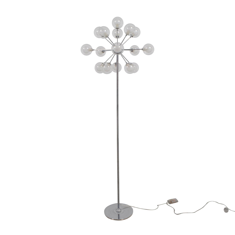 shop Possini Possini Euro Chrome and Glass Floor Lamp online
