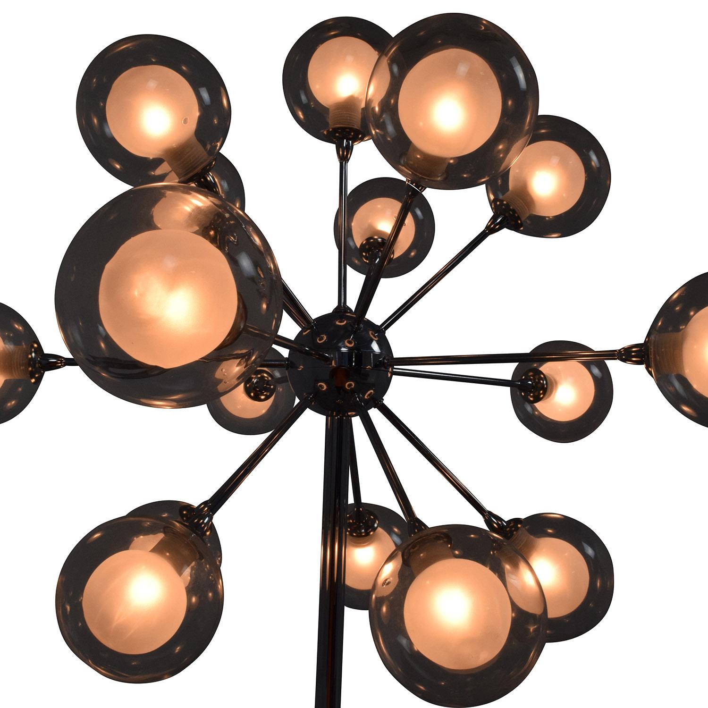52 Off Possini Possini Euro Chrome And Glass Floor Lamp