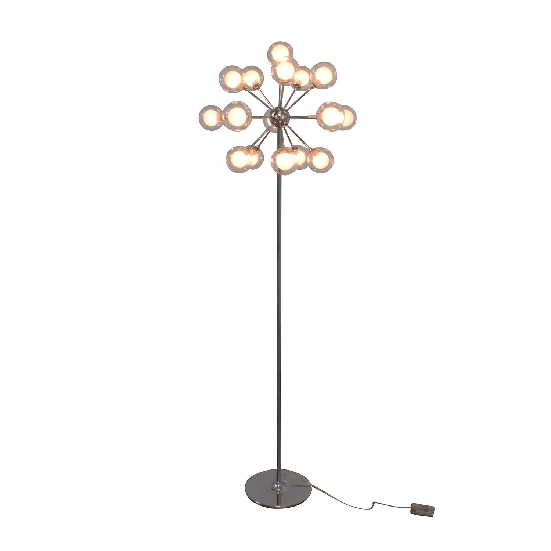 Possini Possini Euro Chrome and Glass Floor Lamp