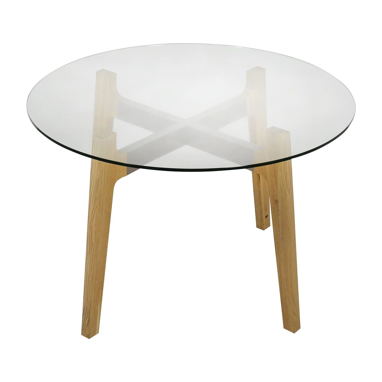 50 Off Cb2 Cb2 Round Brace Dining Table Tables