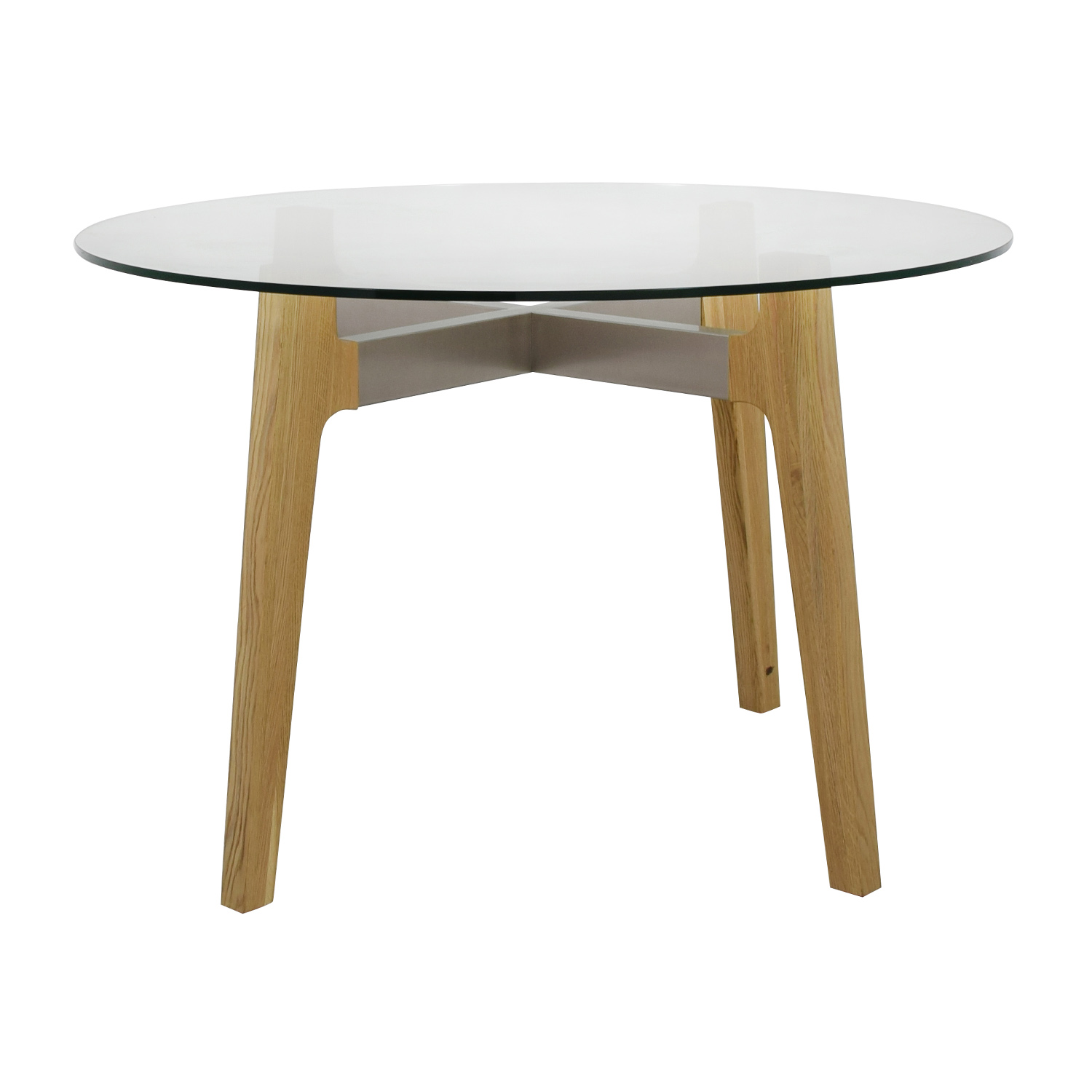 Admirable 50 Off Cb2 Cb2 Round Brace Dining Table Tables Caraccident5 Cool Chair Designs And Ideas Caraccident5Info