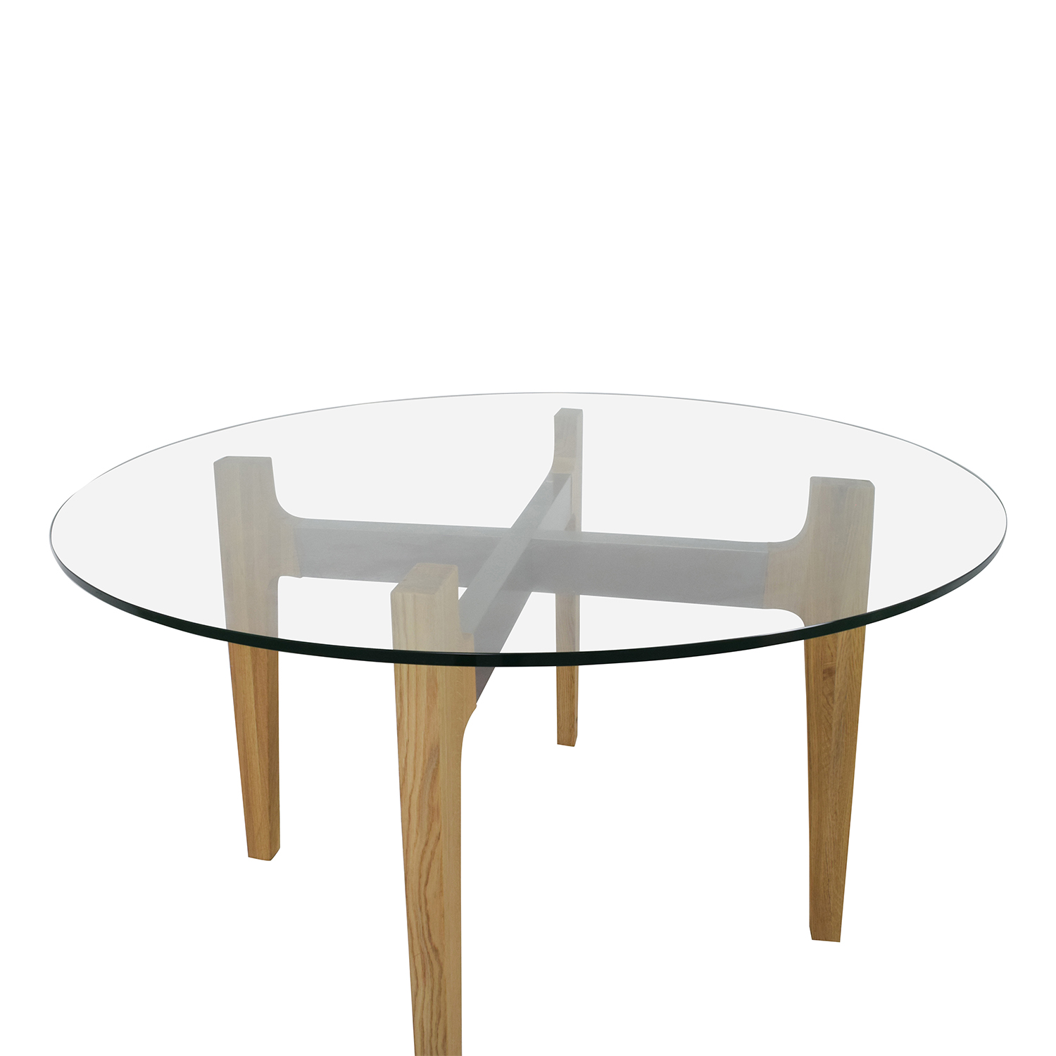Cb2 Round Brace Dining Table Tables