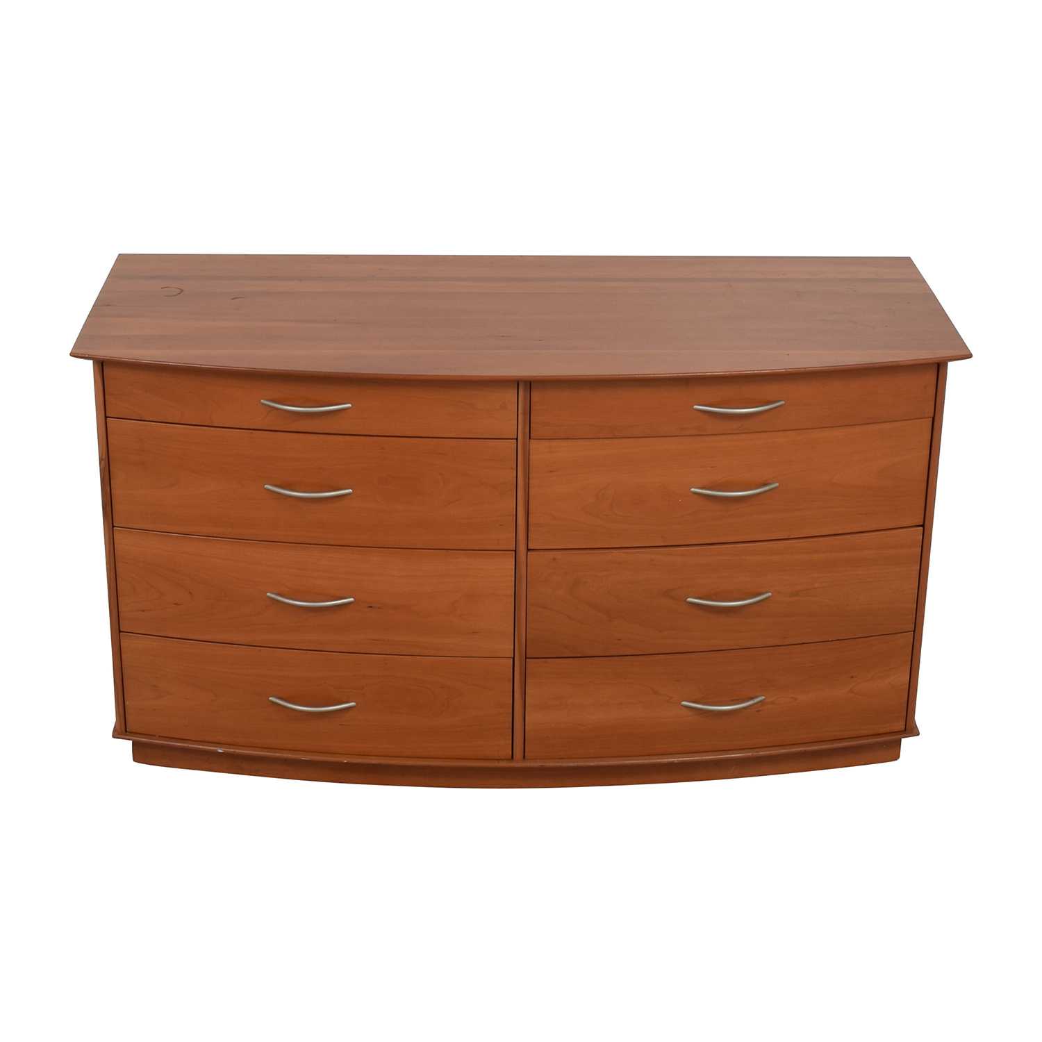 Light Brown Wooden Eight-Drawer Dresser Dressers