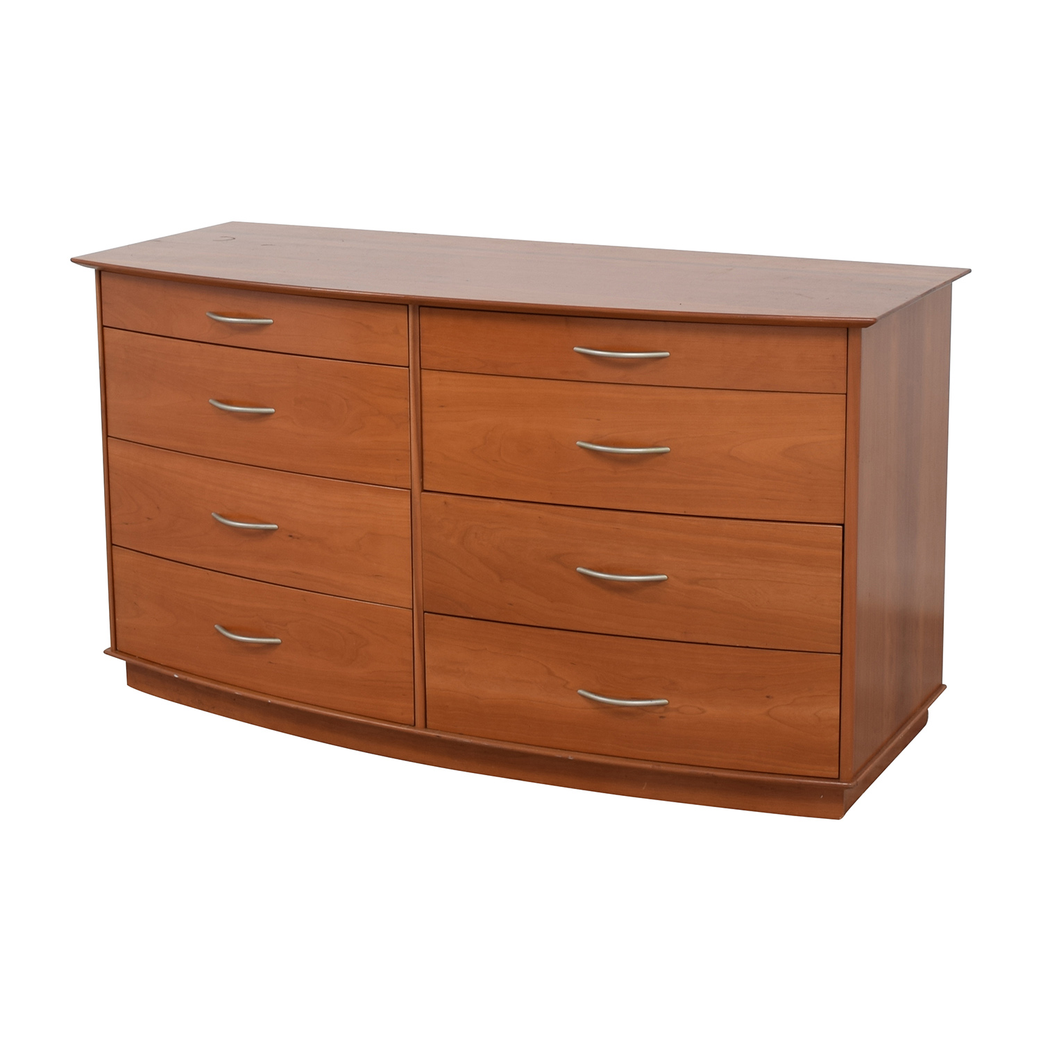 82 Off Light Brown Wooden Eight Drawer Dresser Storage
