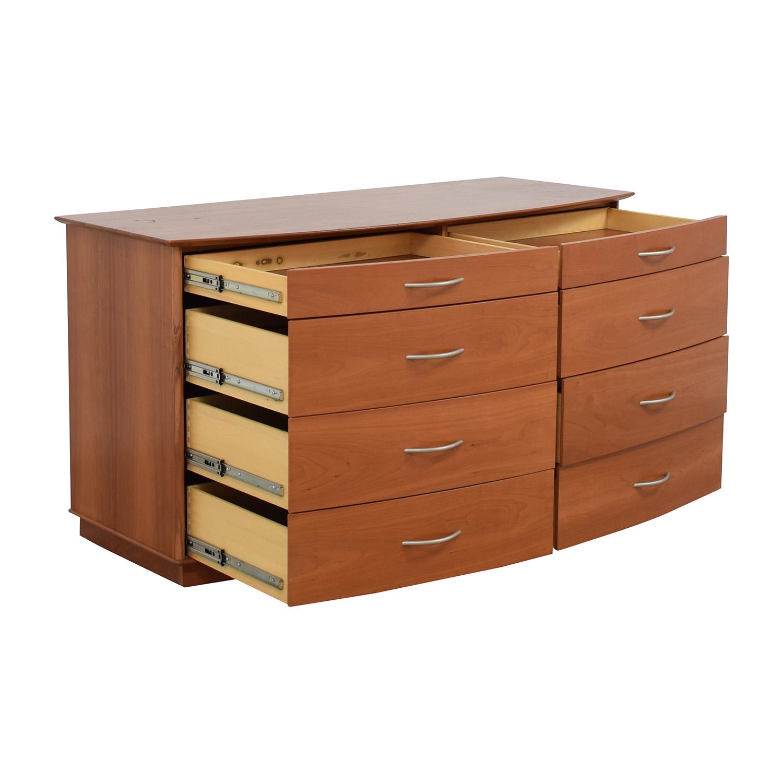off  light brown wooden eightdrawer dresser  storage -  light brown wooden eightdrawer dresser nj
