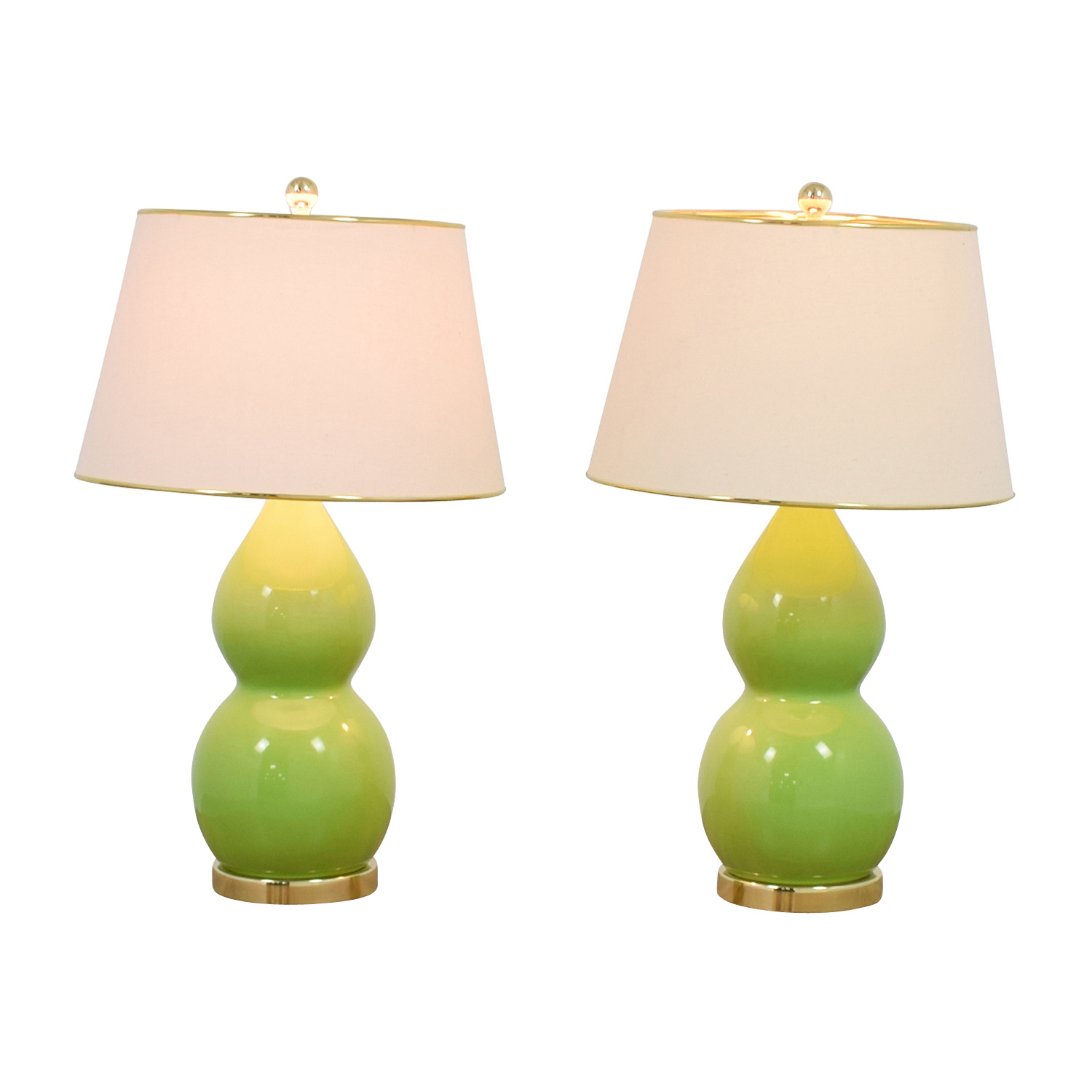 Safavieh Eva Double Green Table Lamps, Set of Two nj