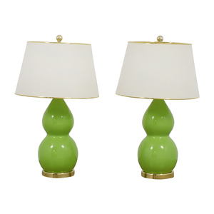 shop Safavieh Eva Double Green Table Lamps, Set of Two online