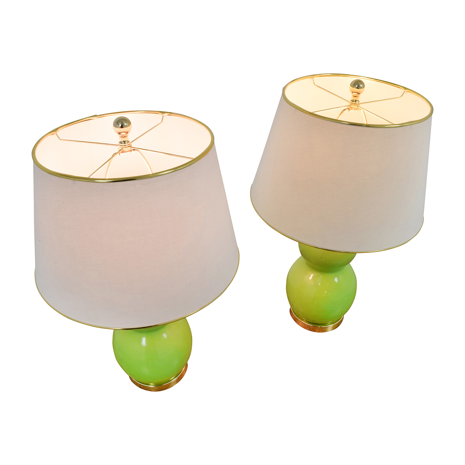 safavieh eva double green table lamps set of two nyc