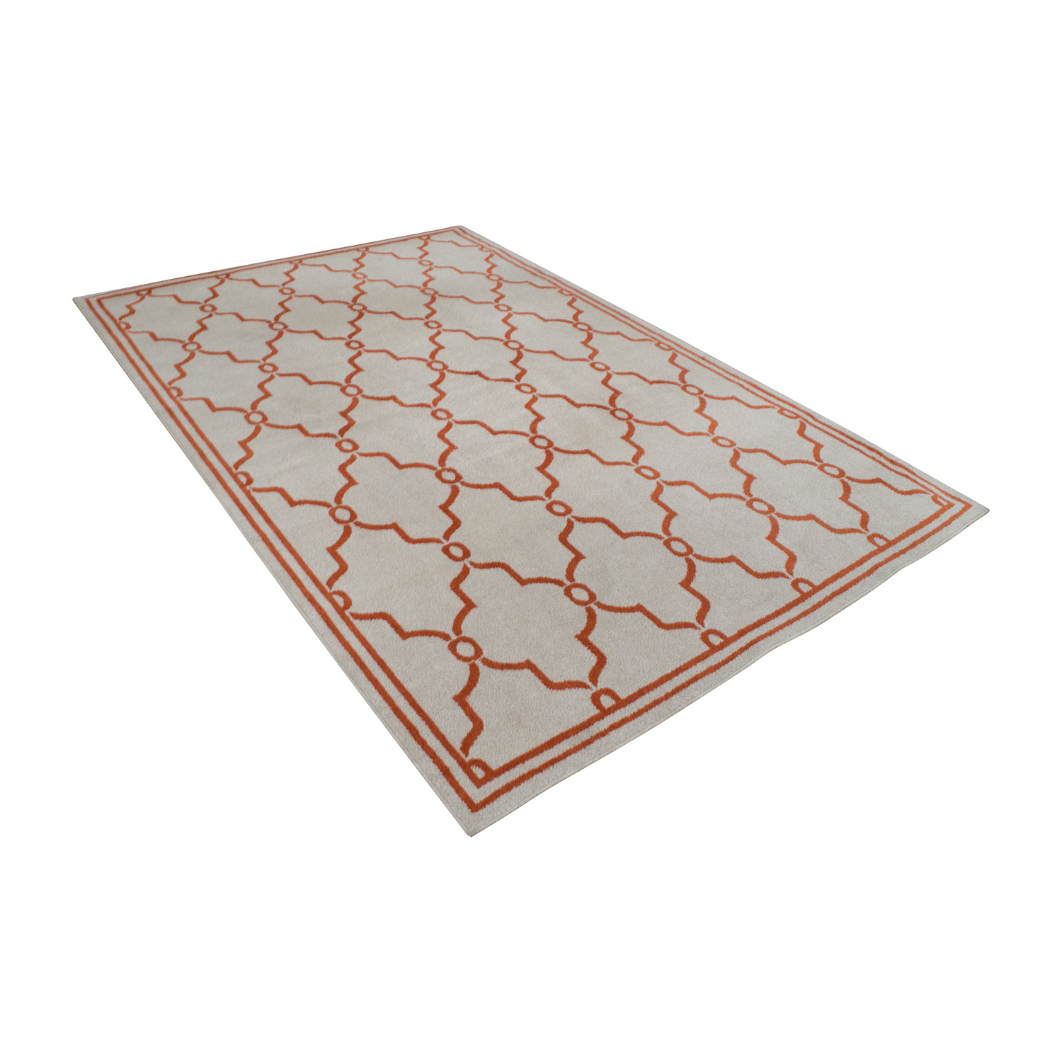 Safavieh Amherst Beige and Orange Indoor or Outdoor Rug / Rugs