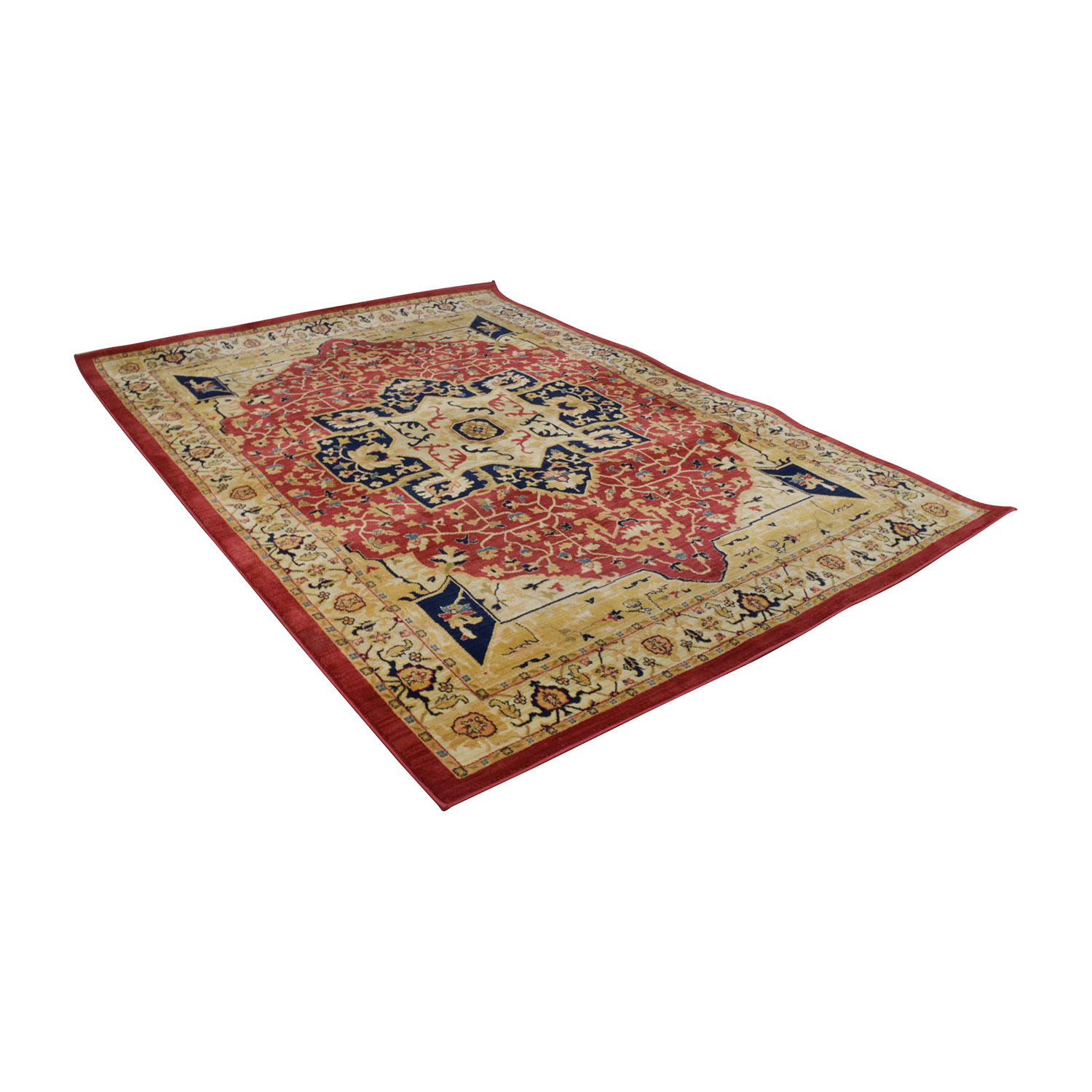shop Safavieh Austin Red, Beige and Blue Area Rug Safavieh Decor