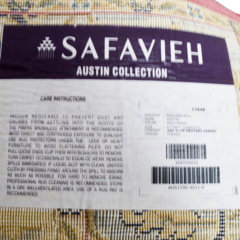 ... Shop Safavieh Austin Red, Beige And Blue Area Rug Safavieh Decor