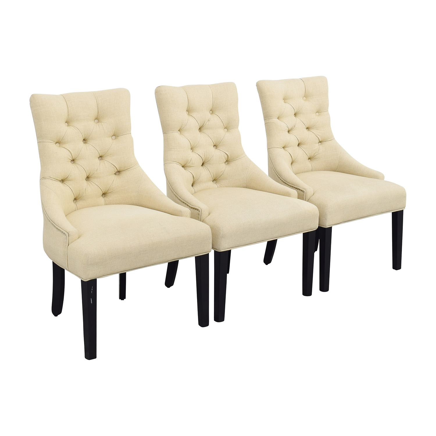 Genial ... West Elm West Elm Beige Tufted Wing Back Chairs ...