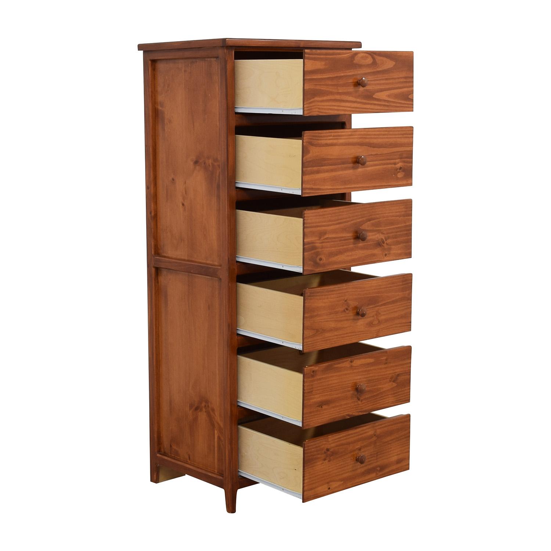 Gothic Cabinet Craft Six-Shelf Tall Dresser / Storage
